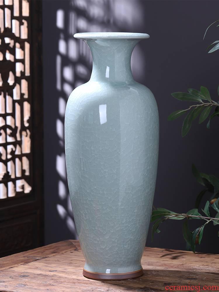 Jingdezhen ceramics jun porcelain vase furnishing articles home sitting room ground large adornment archaize crack glaze bottle