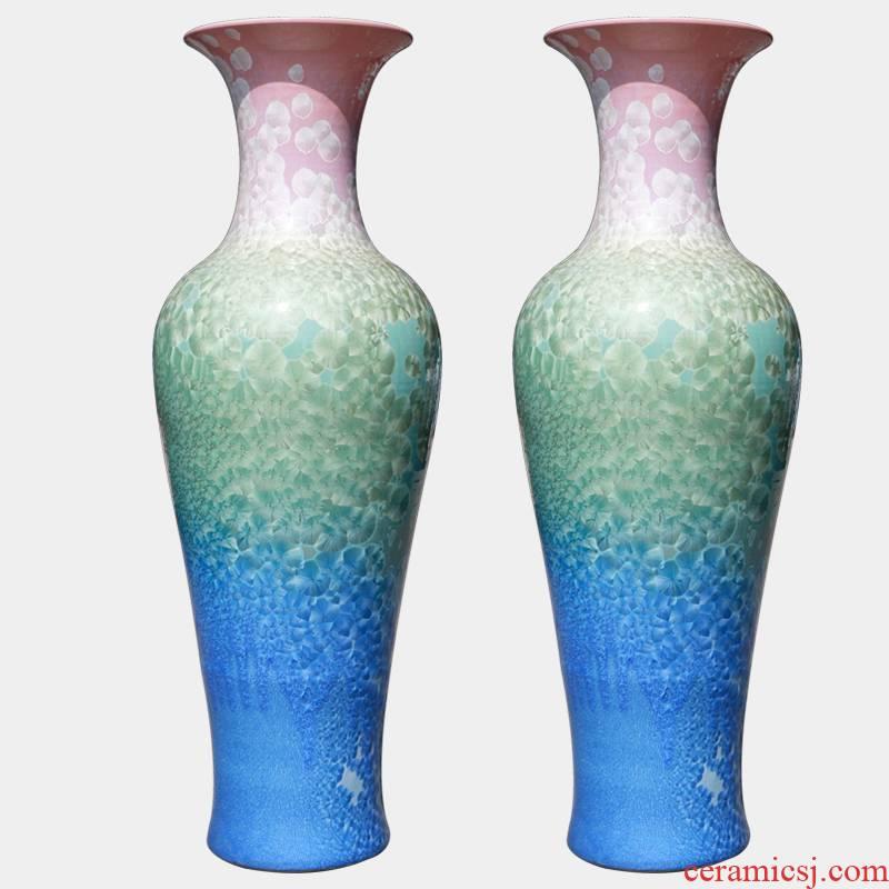 Jingdezhen ceramics crystalline glaze of large vase household hotels sitting room adornment ornament