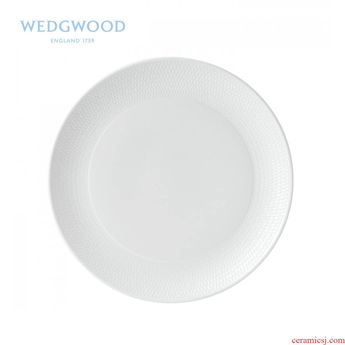 Wedgwood waterford Wedgwood Gio honeycomb 23 cm series flat single ipads porcelain snack plate/cold dish plate