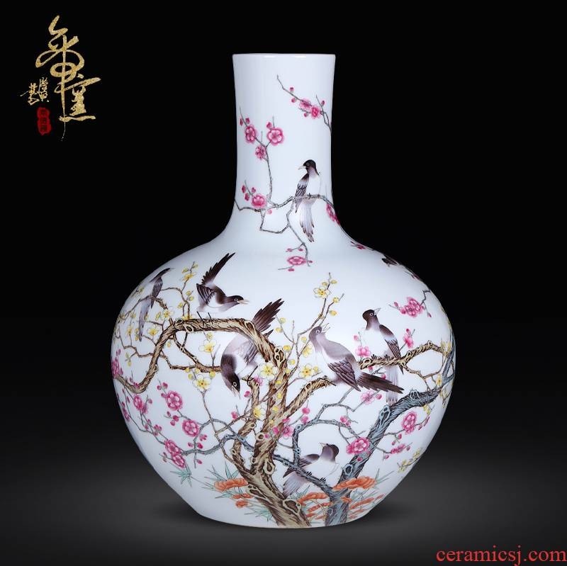 Jingdezhen ceramics archaize the qing qianlong pastel pay-per-tweet on name plum tree sitting room home furnishing articles