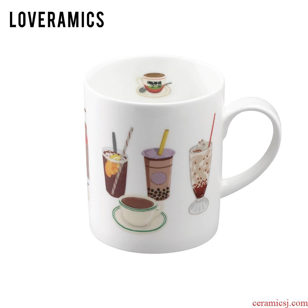 Loveramics love June I love mark cup three 380 ml glass of milk cup creative HK Drinks cup