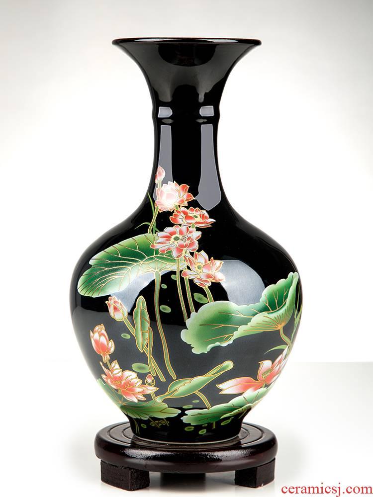 Jingdezhen ceramics vase furnishing articles TV ark, dried flower flower arranging the modern Chinese style household, sitting room adornment porcelain