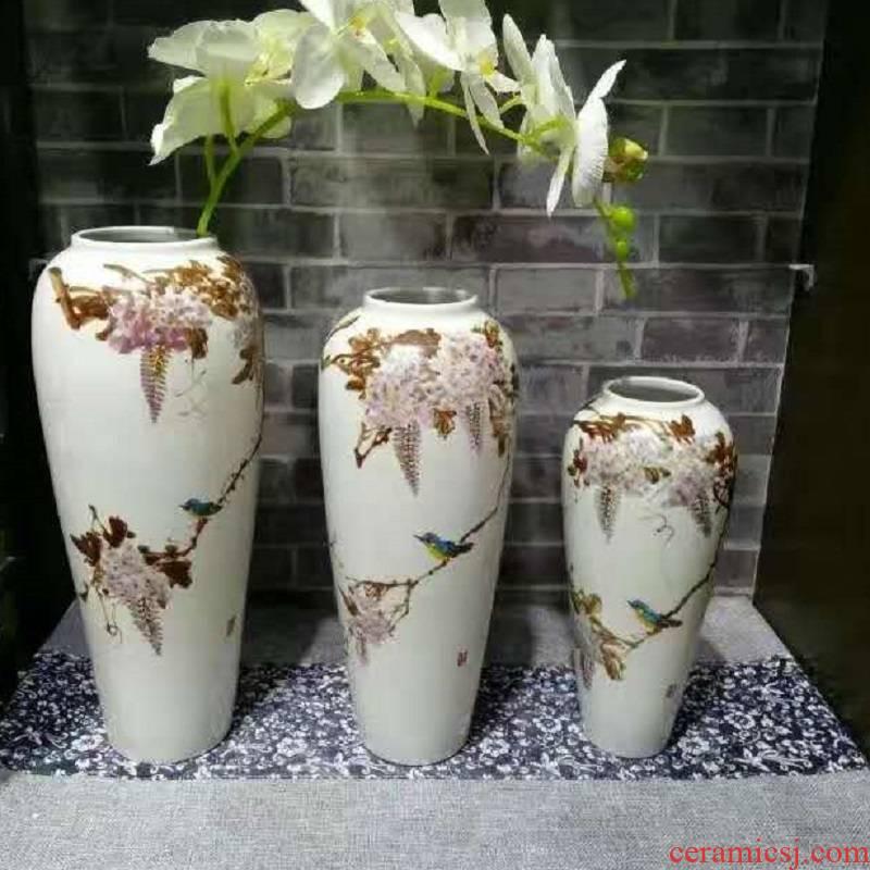 Jingdezhen porcelain furnishing articles 3 piece 680 white printing