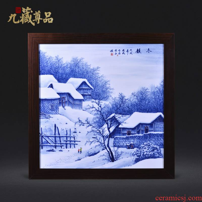 Jingdezhen ceramics Liu Shuwu hand - made winter adornment porcelain plate painting murals household handicraft furnishing articles