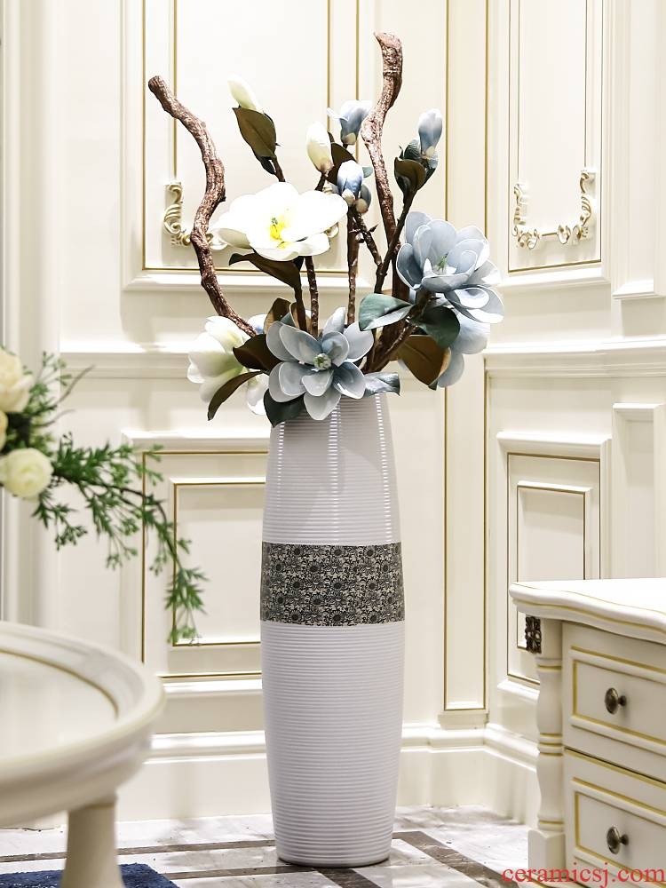 Jingdezhen contracted and I ceramic dry flower is placed high ground large vase flower arrangement sitting room adornment flowers