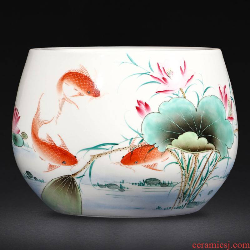 Jingdezhen ceramics by hand for years wining the tortoise cylinder raise goldfish bowl lotus basin cornucopia furnishing articles