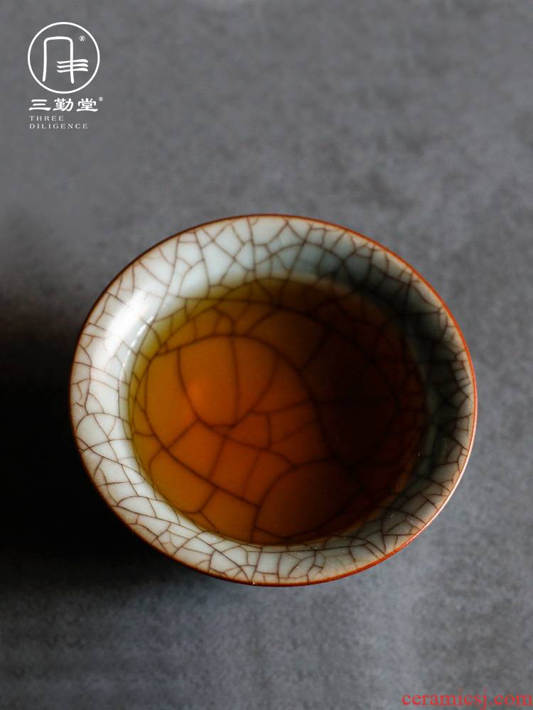 Three frequently hall jingdezhen ceramic sample tea cup your up cups can raise the pu - erh tea from the single CPU master CPU