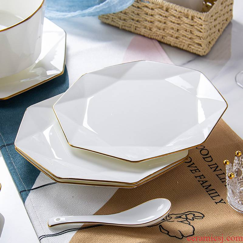Up Phnom penh Nordic creative web celebrity light excessive ipads porcelain tableware ceramics steak plates ins dinner plate household 0