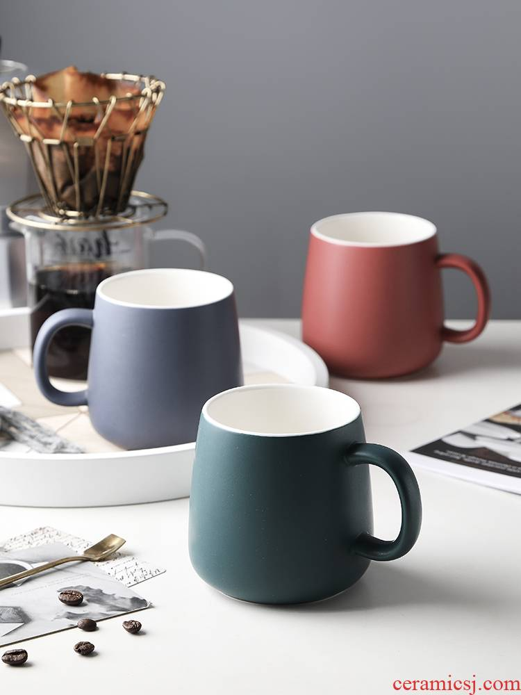 Nordic mugs creative move Japanese contracted large capacity ins household ceramics tide water cup of coffee