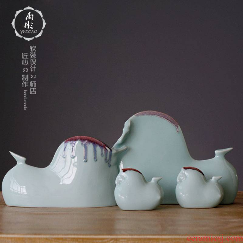 Rain tong home furnishing articles | jingdezhen porcelain ceramic its shadow green up horse craft gift household act the role ofing is tasted furnishing articles