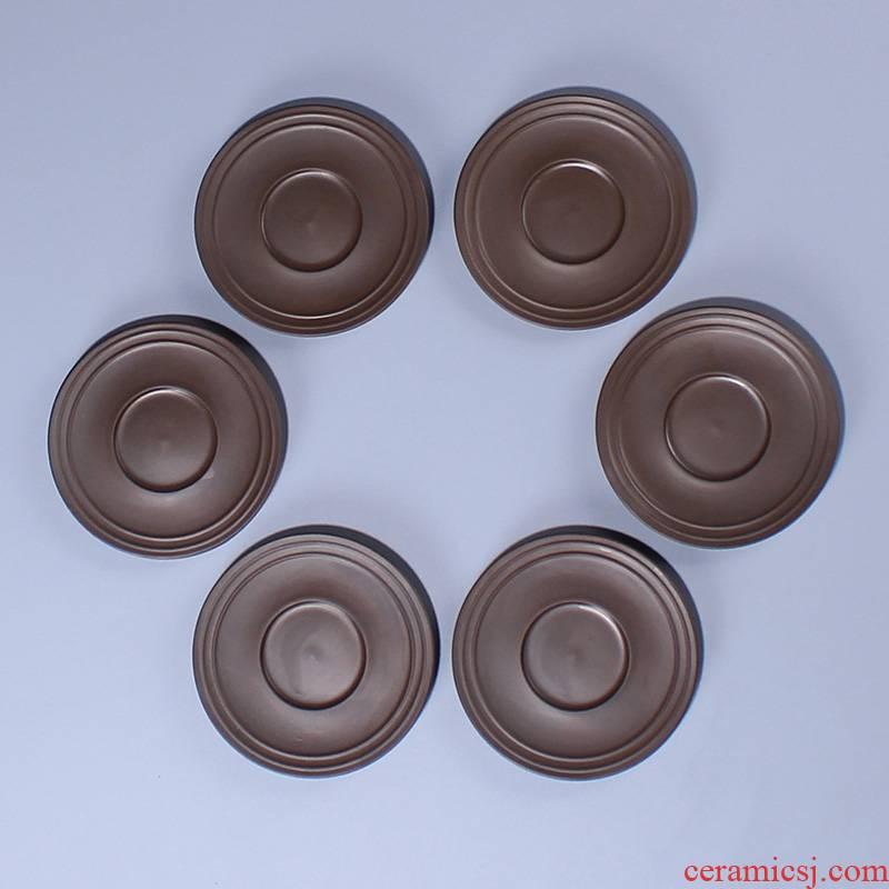 Purple sand cup mat ceramic cup mat mat tea tea taking with zero sample tea cup tea tea tea tray machine accessories