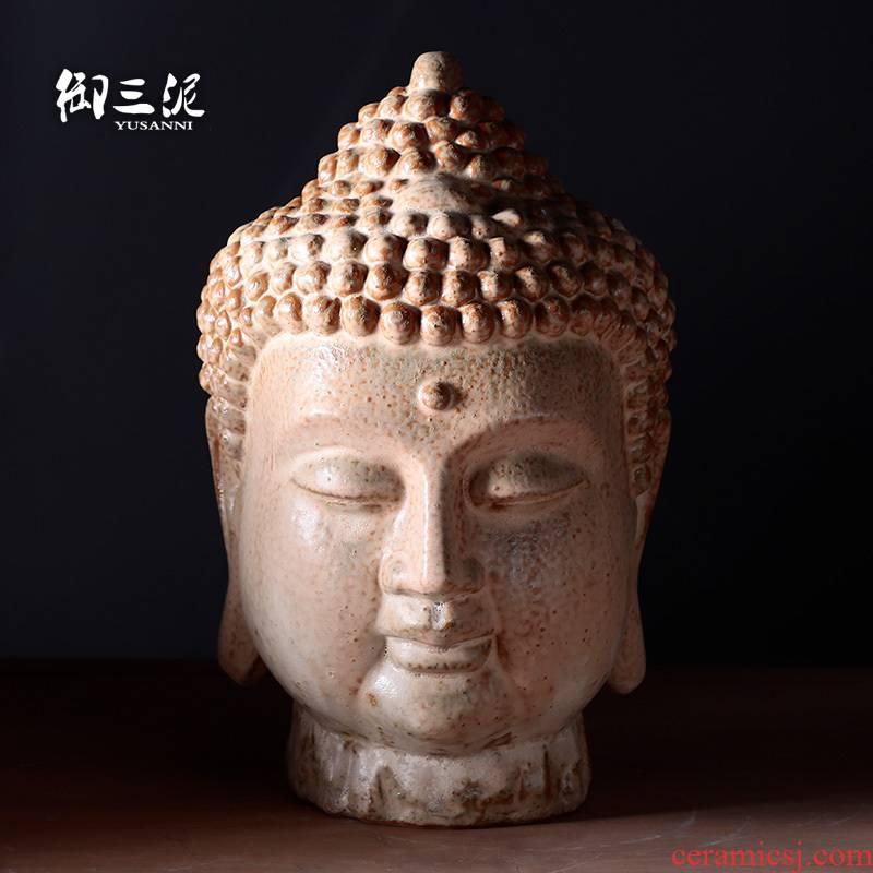 Big Buddha amitabha tathagata furnishing articles ceramics first home decoration arts and crafts Chinese zen strange figure of Buddha