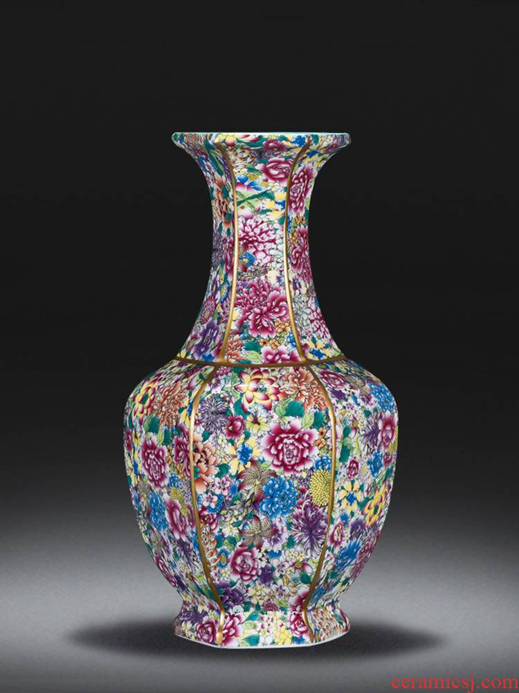 Jingdezhen chinaware paint large vase archaize qianlong classical Chinese style home sitting room adornment is placed