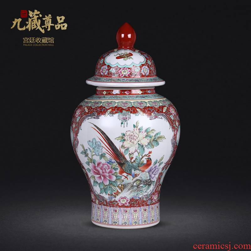 Jingdezhen ceramic antique hand - made general window enamel pot sitting room home furnishing articles