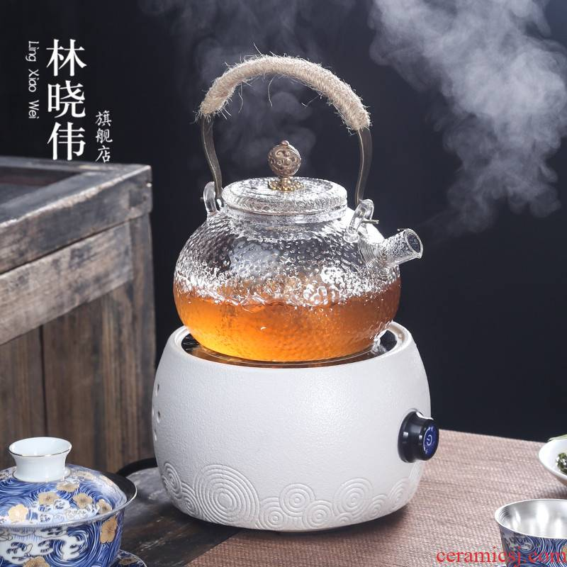 Heat resistant glass ceramic the boiled tea, the electric TaoLu suit white tea, black tea pu - erh tea boiling steam teapot tea stove household