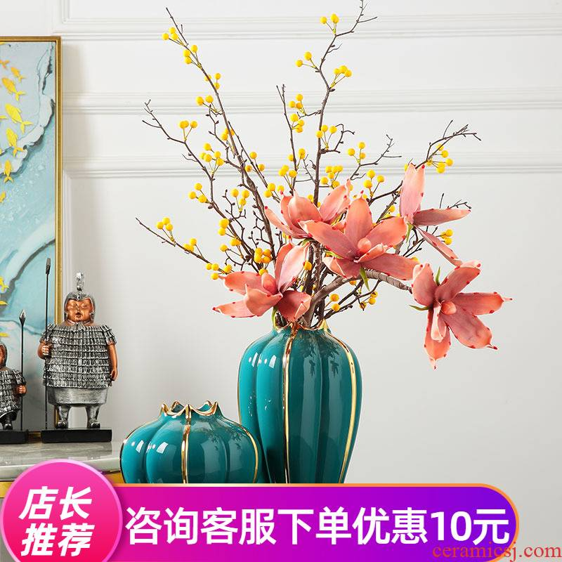 Sitting room place light household act the role ofing is tasted much ceramic vase Europe type TV ark, dry flower vases porch decorate the table