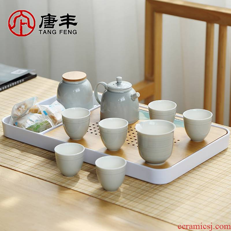 Tang Feng Japanese tea kettle kung fu tea set household contracted ceramics office dry terms with a small set of gift boxes