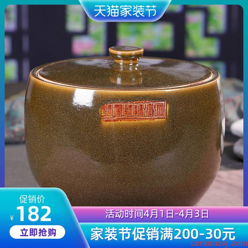 Jingdezhen ceramic grain storage tank food grains, sealed as cans household caddy fixings receive a case storage tanks
