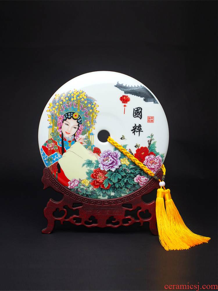 Jingdezhen ceramics peace buckle, furnishing articles wine TV ark, sitting room porch rich ancient frame of Chinese style household decorations