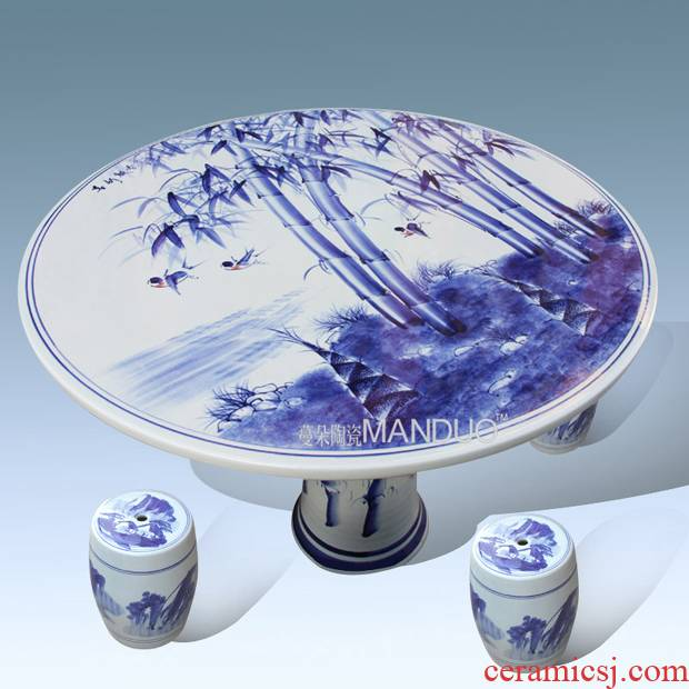 Jingdezhen porcelain ceramic table decoration villa garden is suing balcony table section high art porcelain