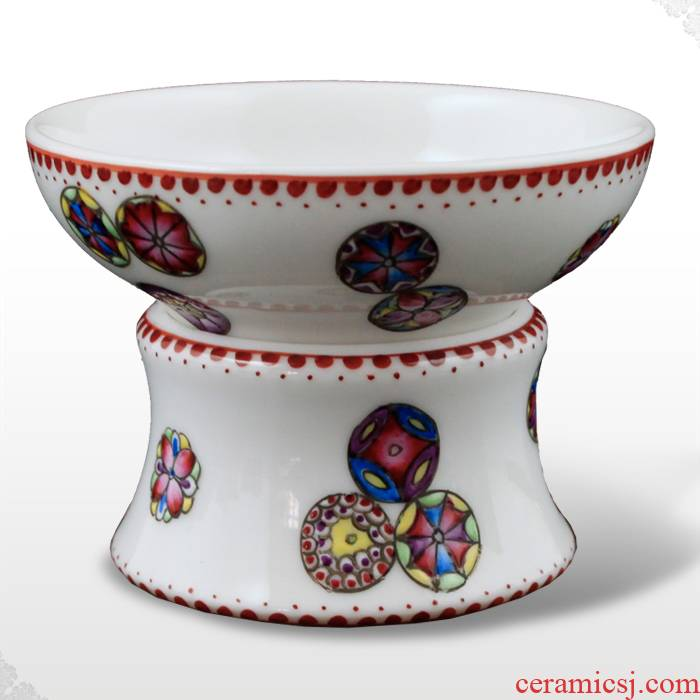 Offered home - cooked hand colored enamel porcelain in jingdezhen tea tea filter) tea, tea products furnishing articles