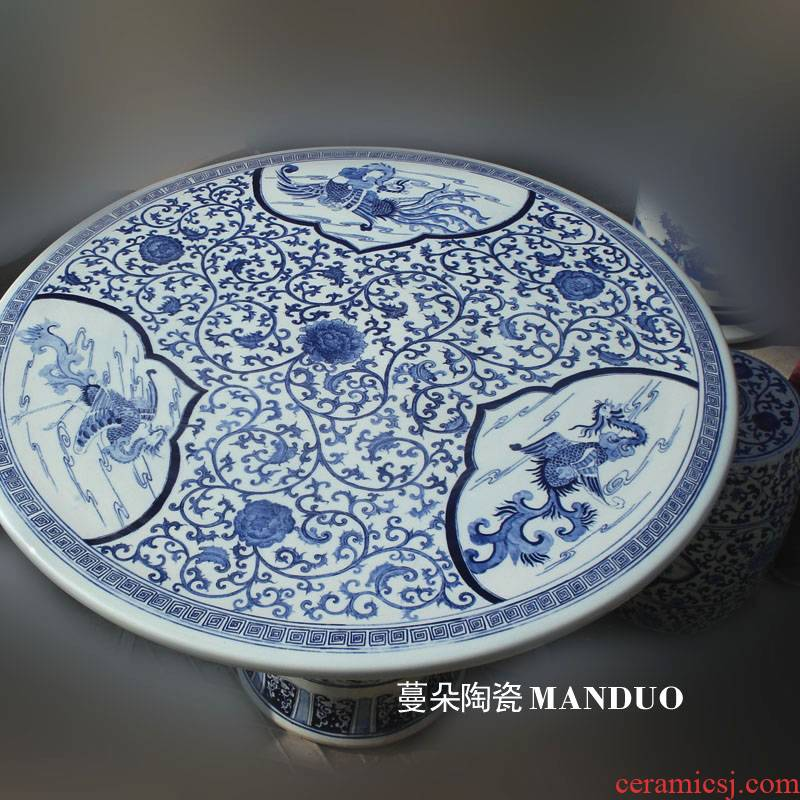 Jingdezhen pure hand - made porcelain who table set is suing garden villa porcelain art is suing the table table