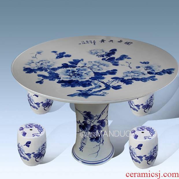 Jingdezhen porcelain ceramic table decoration supplies is suing garden villa garden balcony high - grade porcelain table