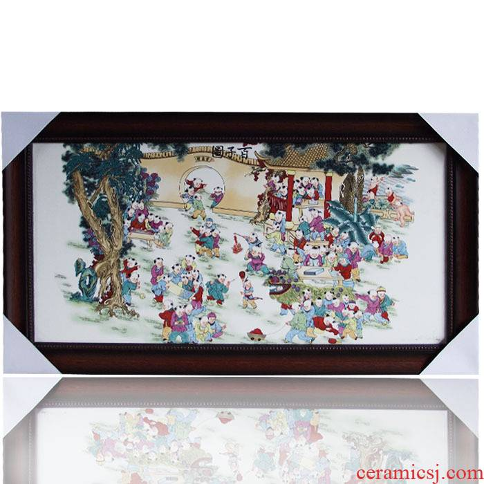 Jingdezhen ceramic central scroll the ancient philosophers figure porcelain plate painting murals murals have Chinese style of sitting room adornment hc - q2