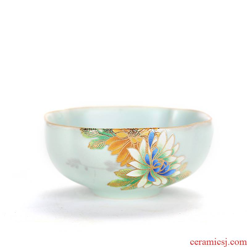 Old &, your up piece on flower sample tea cup master kung fu tea set ceramic cup cup of personal tea cup