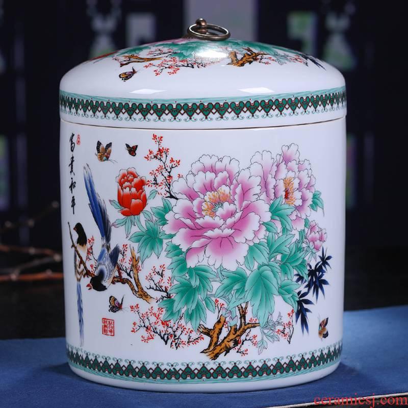 Large seal caddy fixings jingdezhen ceramics POTS ceramic pot put POTS of tea POTS of tea