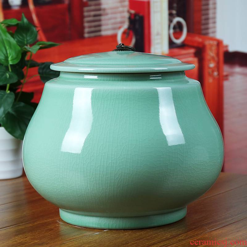 Archaize of jingdezhen ceramics slicing storage tank caddy fixings seal pot candy jar household act the role ofing is tasted furnishing articles in the living room