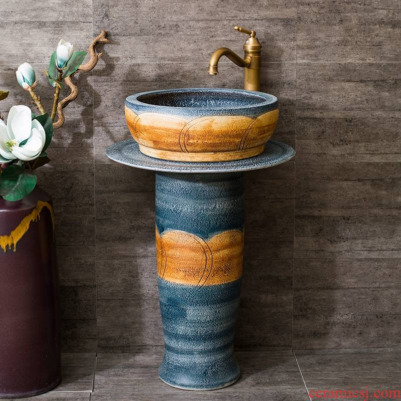 Rain QuanYang set one - piece toilet ceramic basin stage basin lavatory basin that wash a face to wash your hands and thicken its
