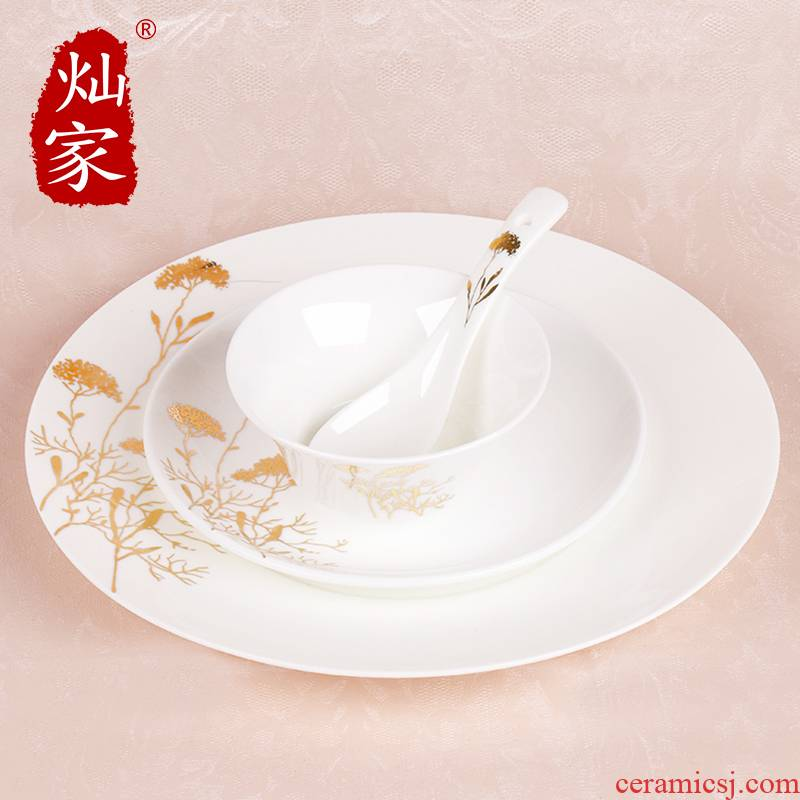 Can is continental food steak house of disc creative royal bowls disc suit western - style food plate hotel table cutlery set