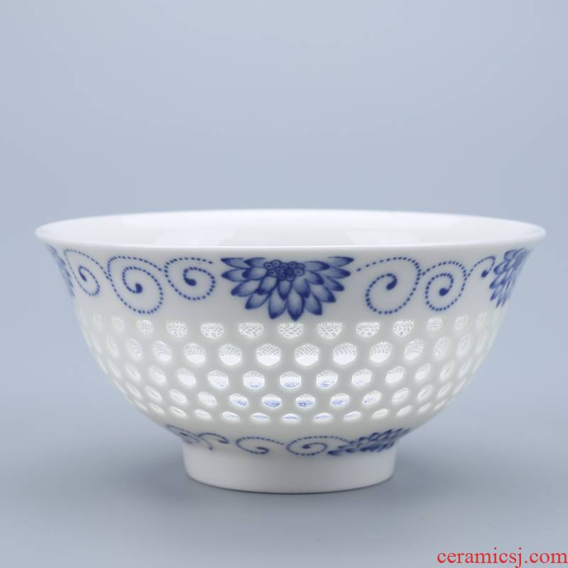 Cheung fung Chinese style under the glaze made pottery bowls tableware suit millet rice bowl bowl household small bowl