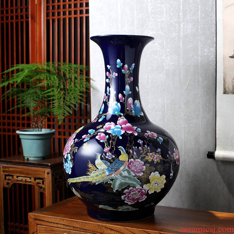 Crystal glaze of jingdezhen ceramics of large vases, flower arranging office furnishing articles to decorate the sitting room household crafts