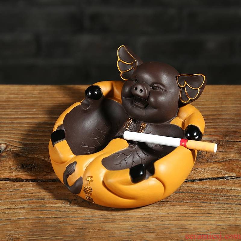 Ning uncommon ceramic ashtray color sand pottery ashtray BiMenSiGuo creative move (the default) new