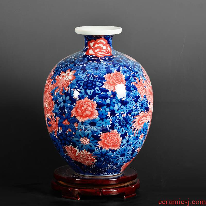 Antique blue - and - white porcelain yongzheng vases home sitting room adornment penjing collection jingdezhen ceramics process