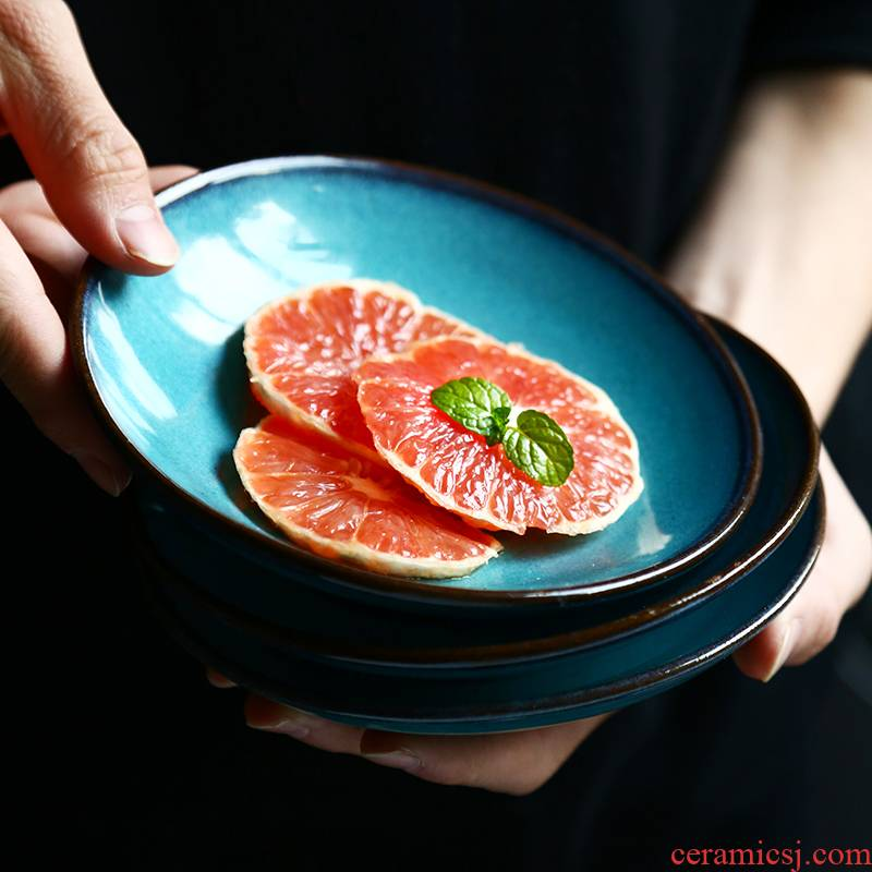 Dishes of antalya 6 inches taper ceramic disc creative household small plate small fruit bowl side dish for breakfast