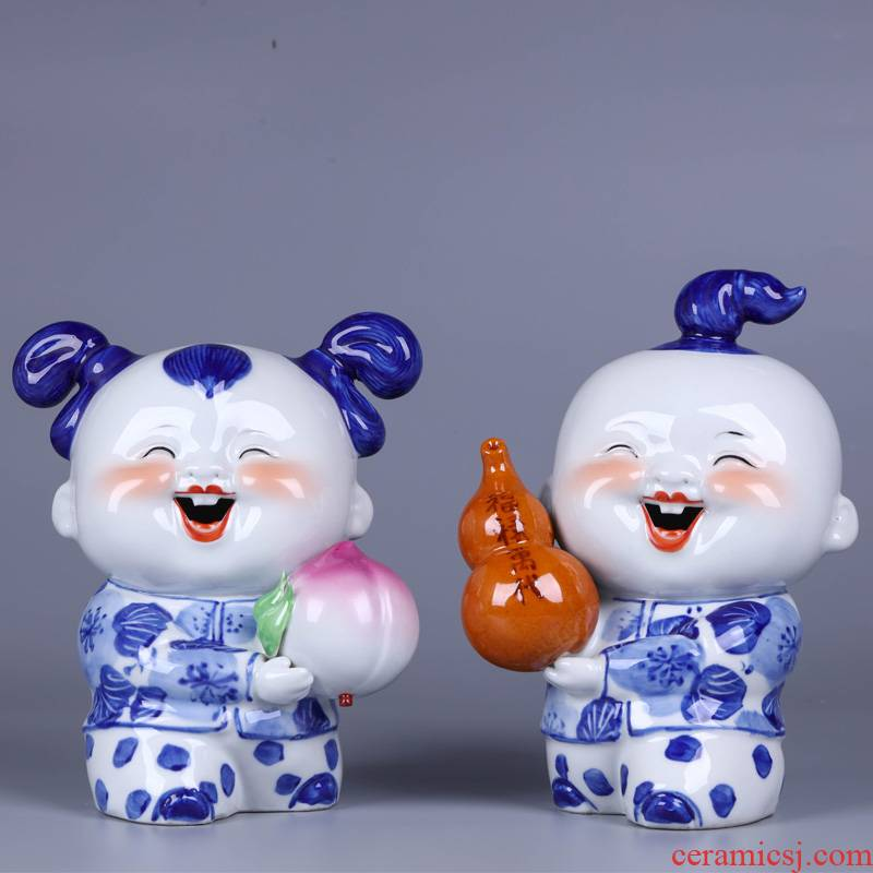 Jingdezhen ceramic new Chinese style household wine accessories furnishing articles sitting room porch creative arts and crafts porcelain