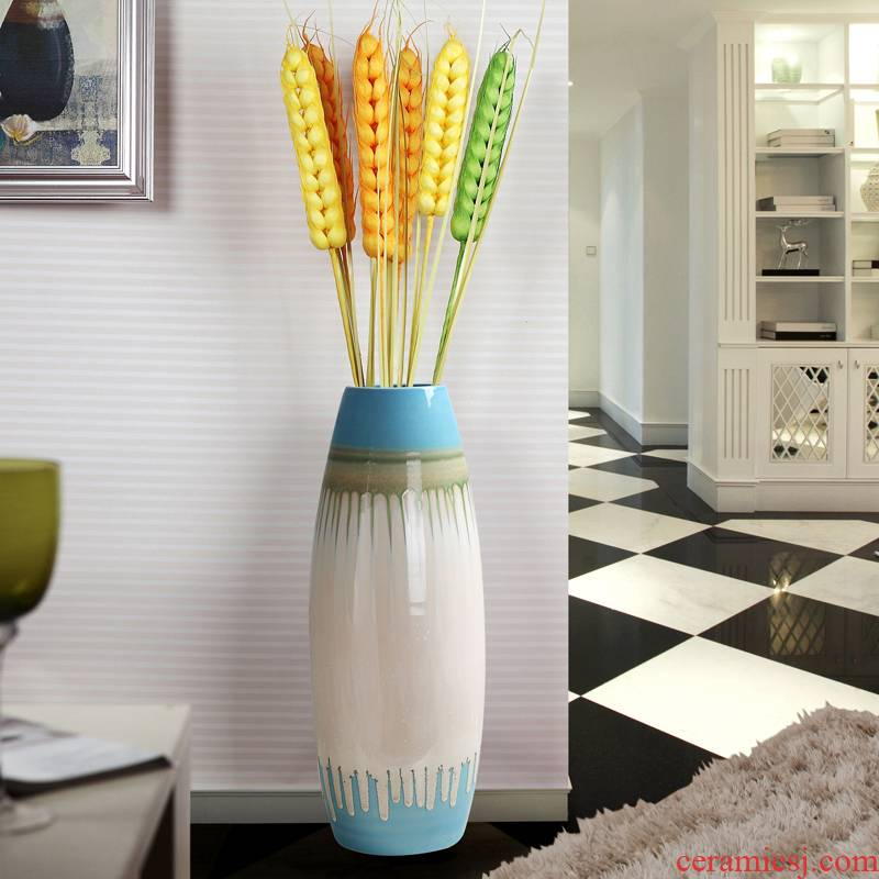 I and contracted Europe type TV ark, ceramic floor big vase planting the sitting room porch place hotel soft decoration