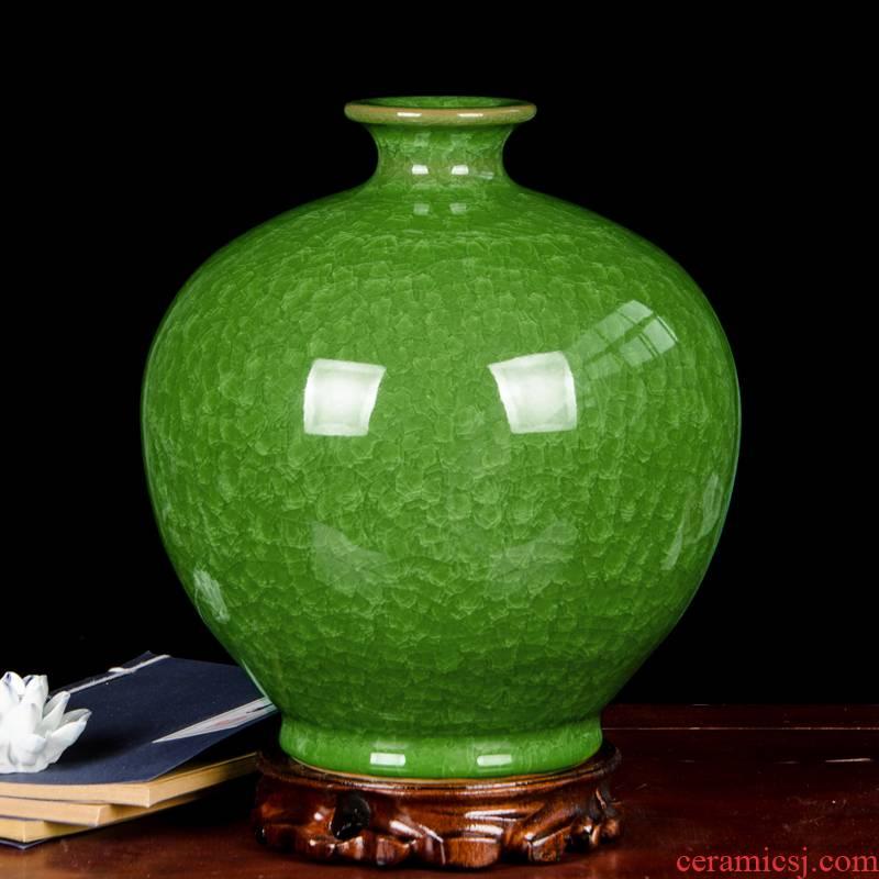 Cb92 jingdezhen ceramics archaize borneol crackle vases, flower arrangement sitting room place green home decoration