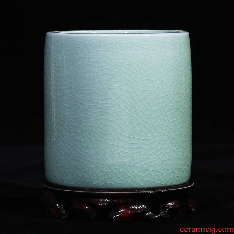 Jingdezhen ceramic vase brother open piece of porcelain up borneol I household brush pot furnishing articles study office arts and crafts
