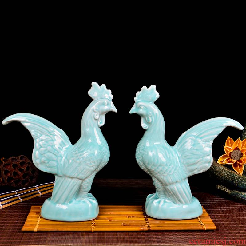Cb62 jingdezhen ceramic film, green chicken place of the sitting room of Chinese style household wine TV ark, decorative arts and crafts