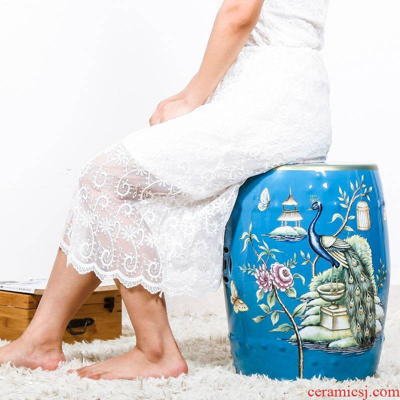Europe and the Chinese painting of flowers and ceramic stools dressing change cool shoe who drum who home decoration decoration decoration crafts