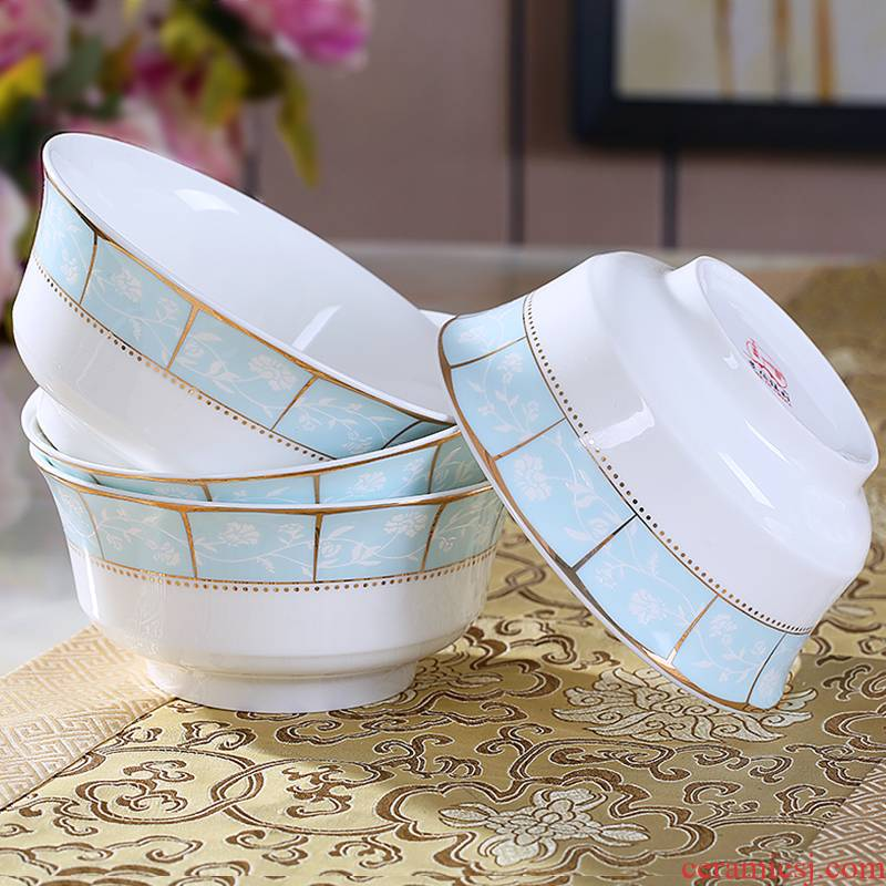 Jingdezhen ceramic bowl 4 pack high mercifully such dishes contracted ipads porcelain tableware household large soup bowl suit