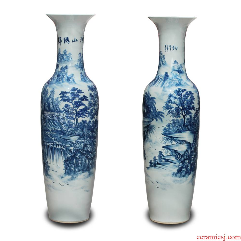Jingdezhen ceramics hand - made porcelain jin rust was large vases, Chinese style living room decoration furnishing articles