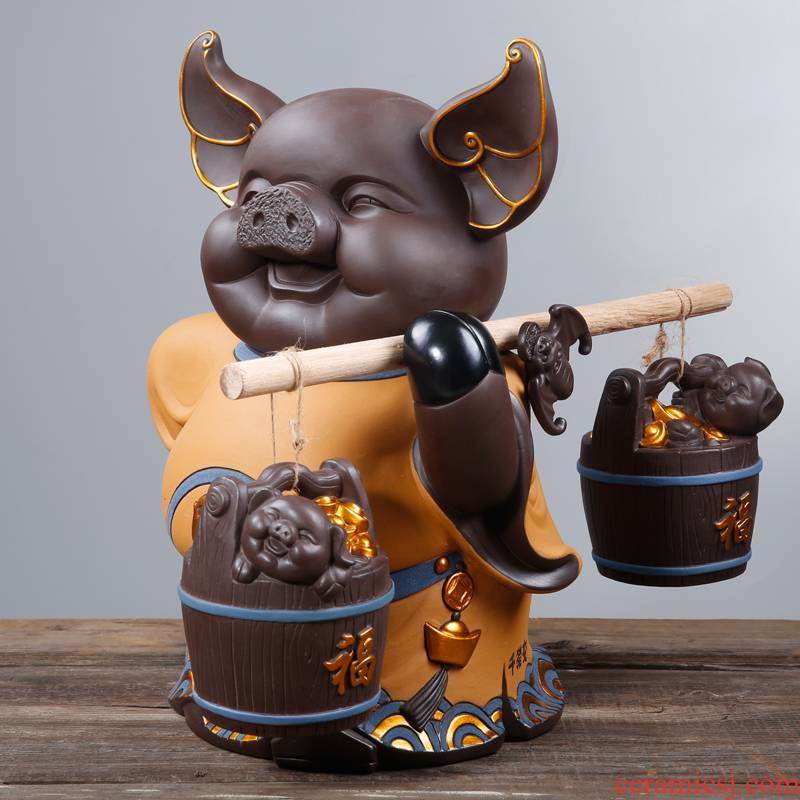 """Porcelain heng tong modern creative Chinese style household adornment fortune """"sitting room place large vestibular gifts"""