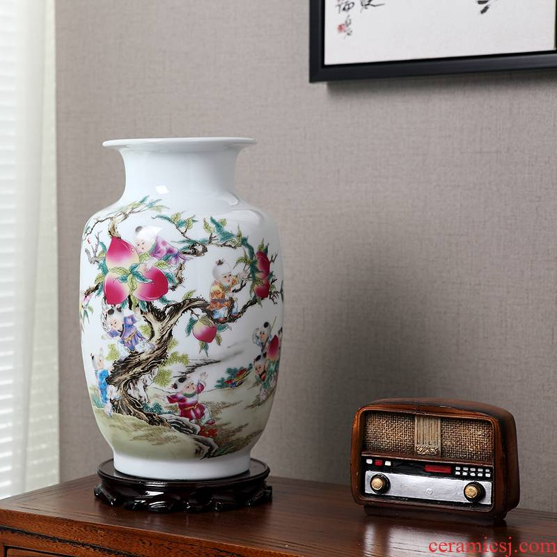 European medium handicraft decoration porcelain ceramic vase household act the role ofing is tasted, the living room floor vase restoring ancient ways furnishing articles