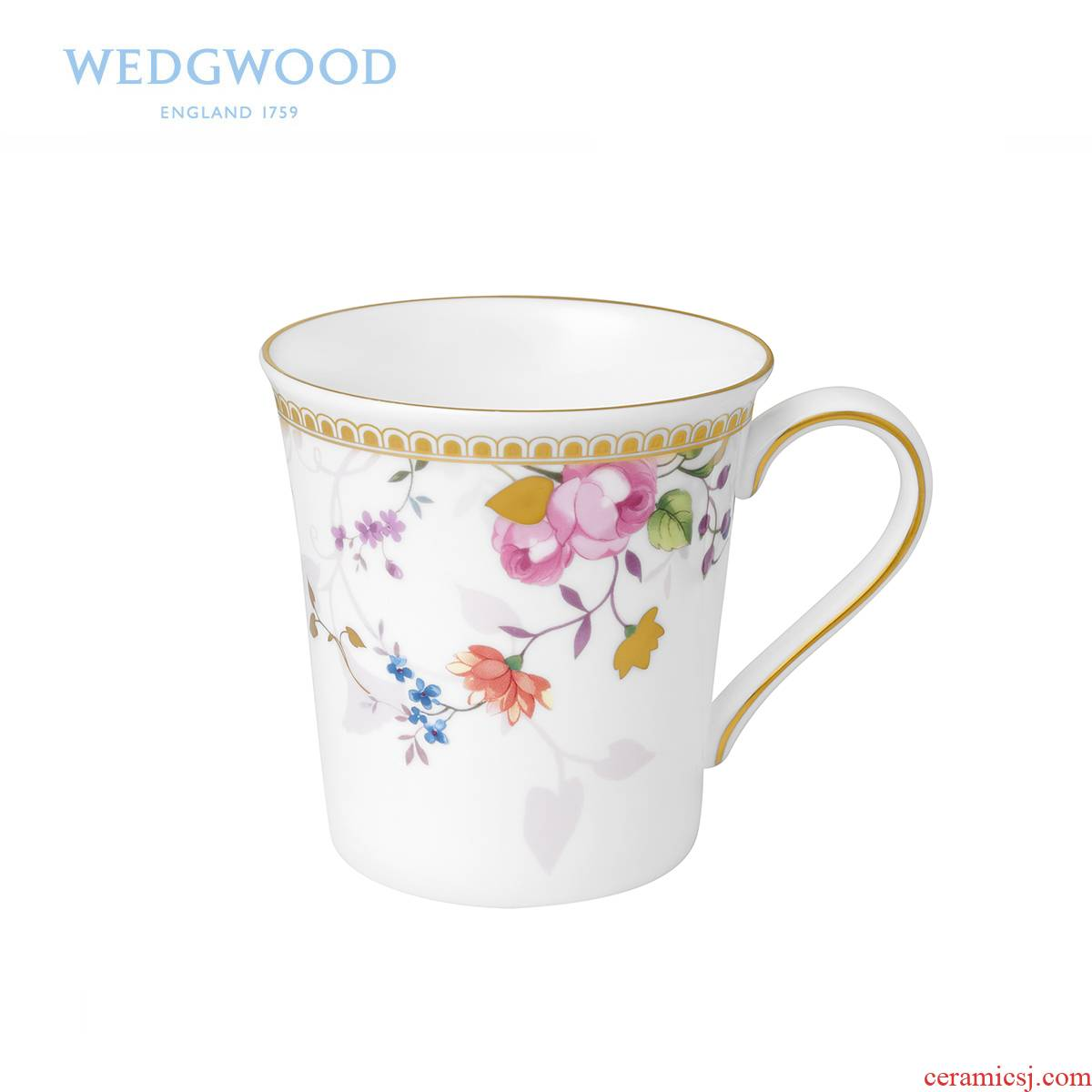 British Wedgwood Rose Gold Gold Rose ipads China mugs, open the tea/coffee cup