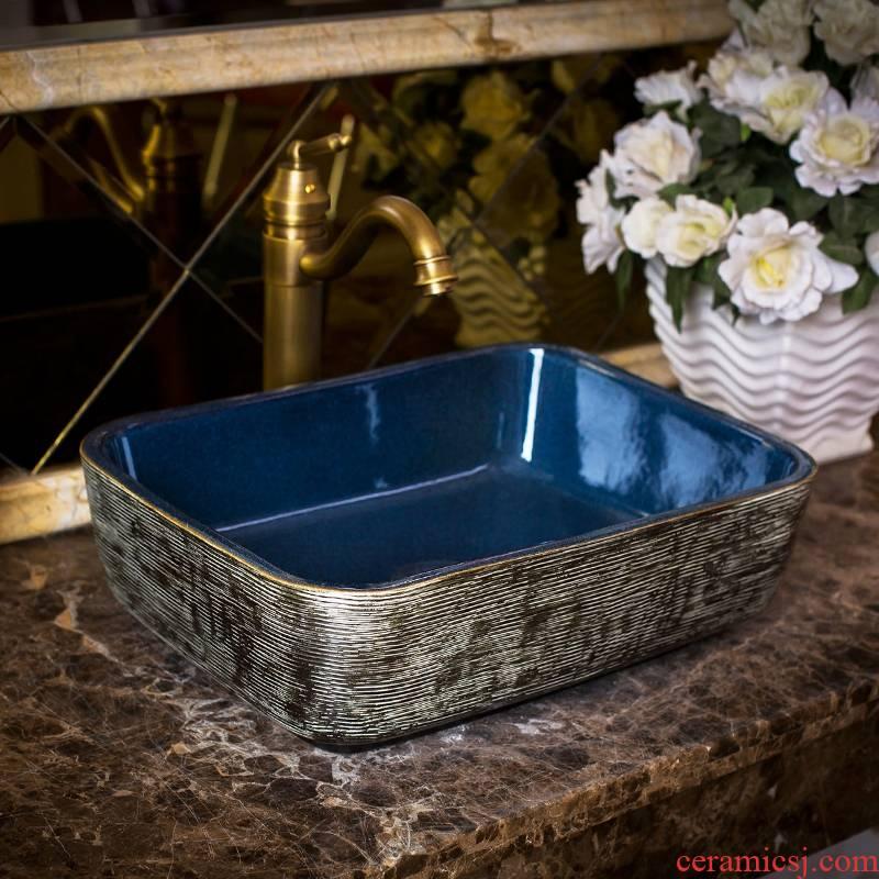 Jingdezhen rain spring circular basin balcony sinks kitchen sink toilet stage basin ceramic art